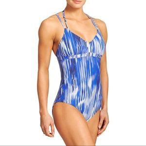 NWT Athleta One Piece Swim Suit Blue XS